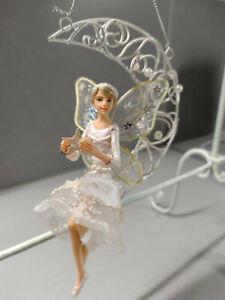 3 X Gisela Graham Herrlicher Plaid Tartan /& Gold Fairy Christbaumschmuck