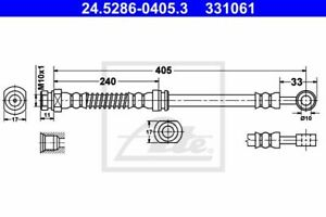 Bremsschlauch Bremsleitung Vorne original ATE (24.5286-0405.3) Hyundai Kia