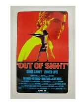 Out of Sight Promo Poster George Clooney J-Lo