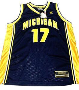 Michigan Wolverines Basketball Jersey #17 Navy Yellow Size Large New with Tags