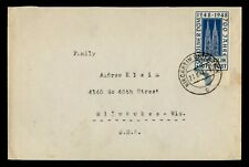 DR WHO 1948 GERMANY KIRCHHEIM TO USA KOLN CATHEDRAL g42728
