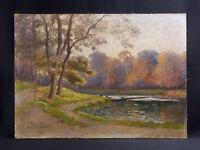 Tristan J.L LACROIX (1862-?) né à à Périgueux Paysage postimpressionniste 1918