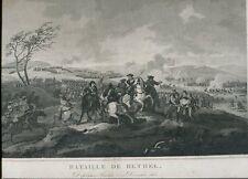 GRAVURE 19° BATAILLE DE RETHEL DUPLESSIS PRASLIN 15 DECEMBRE 1650