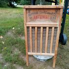 Antique Primitive National Washboard Co 824 Silver King Memphis Chicago