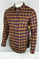 Hawx Men's Plaid Flannel Long Sleeve Work Shirt M or L Stretch Multi HF19W02