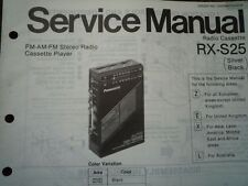 Panasonic RX-S25 RADIO REGISTRATORE A CASSETTE MANUALE SERVIZIO diagramma di cablaggio parti