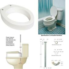 Essential Medical Supply Toilet Seat Riser, Elongated, 19.5 X 14 X 3.5 Inch