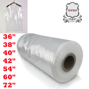 """Clear Garment Covers Clothes Suit Dress Plastic Bags Poly roll 40"""" 42"""" UK Stock"""