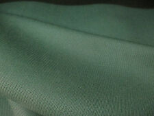 Bottle Green 100% Wool (Cavalry Twill Weave) Curtain Fabric. Made in England.