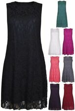 Lace Machine Washable Sleeveless Dresses for Women