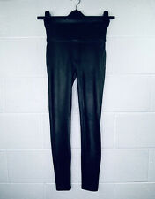 Spanx Women's Small Faux Leather Leggings Black Pull On 2437 High Waist NWT C16