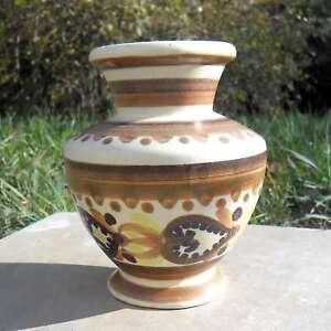 Small Pottery Henrio, Quimper, Small Vase, Art Deco