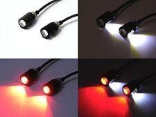 LED de luces de la Matrícula Perno Moto integrado con construido en luces de freno