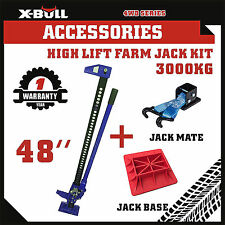 "X-BULL 3000Kg Hi Lift High Farm Jack 48"" inch With Base Jack Mate Heavy Duty 4WD"