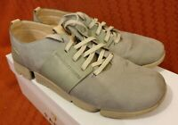 Clark's Trigenic grey light blue suede leather shoes size 7