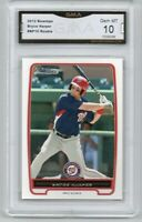 BRYCE HARPER ROOKIE CARD 2012 Bowman #BP10 GMA Graded 10 Gem Mint
