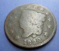 1822 Large Cent   #LC22