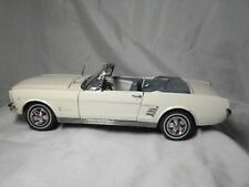 1:24 Diecast ~ Danbury Mint ~ 1966 Ford Mustang Convertible ~ Off-White