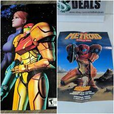 Metroid Other M & Metroid 2 Return Of Samus Posters 1992 & 2010 Used    C3