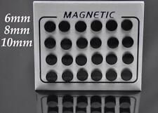 Non Piercing Clip on Magnetic Magnet Ear Stud Mens Womens Fake Earrings Funky UK