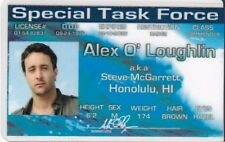 Hawaii Five-O Alex O'Loughlin / Steve McGarrett Drivers License fake i.d. card