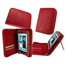 "rooCASE for Samsung Galaxy Tab 2 7"" Executive Genuine Leather Case Red Lot C20"