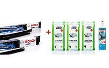 Bosch Wischer-Set vorne+hinten A414S + H304 + Anti-Beschlag + Reinigungstücher