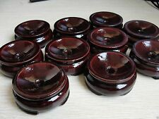 10pcs Patina Wood Tower Stand Pedestal Holding Crystal Sphere