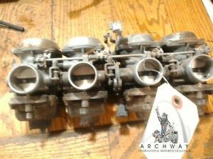 Used 1984 Honda CB650 SC Nighthawk carburetor set(4) for cleaning