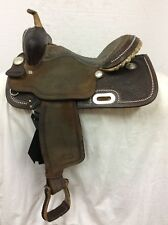 "Genuine Billy Cook 14"" Barrel Saddle #1530 Used Regular Qrtr Horse Bar 6PRUWUWA"