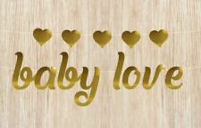 baby love Banner with hearts Baby Shower Banner Gold Mirror Card Bunting Garland
