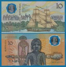 "Australia 10 Dollars P 49 b (ND 1988) UNC Polymer ""WITHOUT DATE"" Low Ship P-49b"
