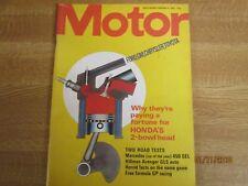 February 9th 1974, MOTOR, Mercedes 450 SEL, Chrysler Avenger GLS, Doug Nye.