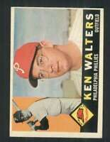 1960 Topps #511 Ken Walters EXMT/EXMT+ RC Rookie Phillies 85165