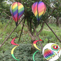 Garden Yard Air Balloon Wind Spinner Hanging Colorful Spiral Windsock Cute Gift