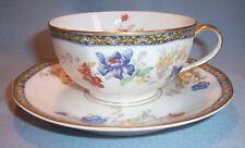 "2 Sets Haviland GANGA LARGE 2 1/8"" Coffee Tea CUP & SAUCER Mug Dish Coromandel"