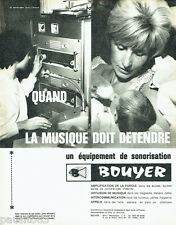 PUBLICITE ADVERTISING 036  1964  Bouyer    sonorisation diffusion musique