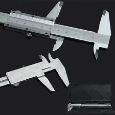 "Steel Vernier Caliper with self lock 6"" 0-150mm Metal Calipers Gauge Microm E0Xc"
