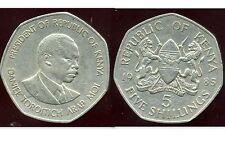 KENYA   5  shillings 1985