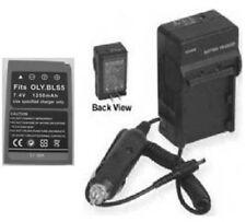 BLS-5 SBLS-5 Battery + Charger for Olympus E-PL5 E-PL6 E-PM2 Stylus 1 OM-D E-M10