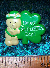 St Patty's Day Gibson Greetings Teddy Hugglesbie Pin
