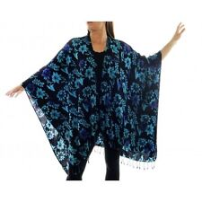 PLUS We Be Bop Lagenlook Flat Rayon STARRY FLOWERS COVER UP JACKET WRAP