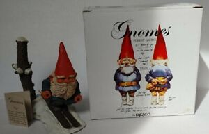 "Enesco Klaus Wickl Gnome w/ Original Box & Inserts ""Pepi"" Skier"