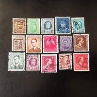 Lot de 15 timbres de Belgique années diverses - Timbres Anciens J39