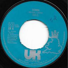 10CC - DONNA / HOT SUN ROCK - 70s POP, ROCK 'N' ROLL REVIVAL, DOO WOP STYLE