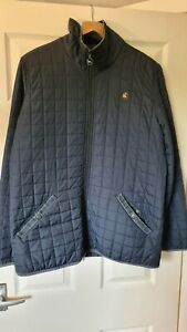 ONE TRUE SAXON QUILTED JACKET MENS NAVY BLUE SIZE L