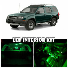 For 00-04 Nissan Xterra GREEN LED Full Package Map Dome Trunk License Plate 5pc