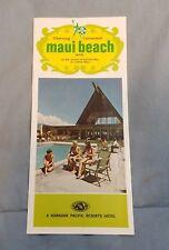 1973 Maui Beach Hotel Hawaii Advertising Brochure Hawaiian Pacific Resorts