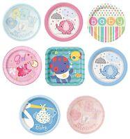 Baby Shower 8 Pequeño platos de papel 17.8cm (NIÑO / niña / Fiesta/ Vajilla/