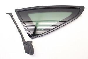 BMW 335I GT F34 14 15 16 DRIVER QUARTER GLASS WINDOW MATTE BLACK W/O PRIVACY OEM